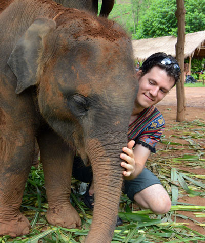 David Carillet, elephant selfie enthusiast and creator of Roads and Ridges.